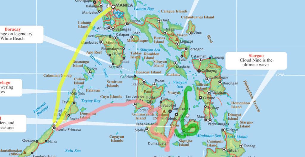 Filipiinide reisikaart